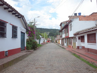 A pretty street in Tibasosa, Colombia