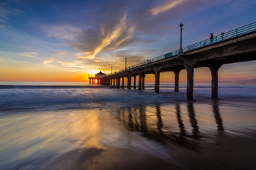 Stunning Sunset at Manhattan Beach Pier
