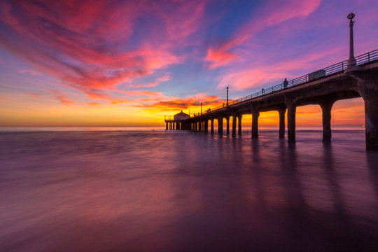 Stunning Sunset at Manhattan Beach Pier