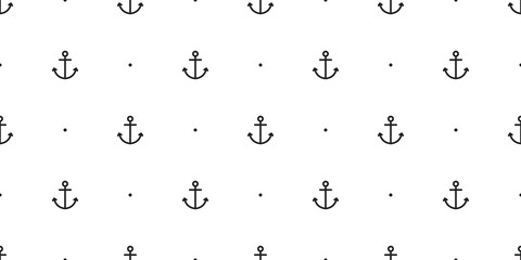 Anchor seamless pattern vector boat pirate helm polka dot scarf isolated maritime sea ocean Nautical repeat wallpaper tile background