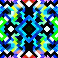 pixels beautiful abstract geometric seamless pattern illustration