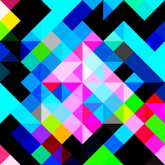 polygons psychedelic colored geometric background pixels
