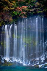Shiraito waterfall in Autumn,Shizuoka, Japan