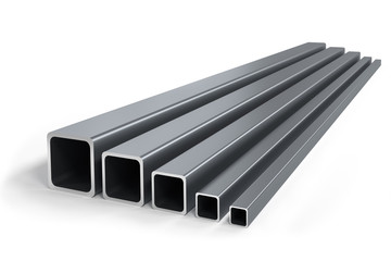 Group of square pipes of different size