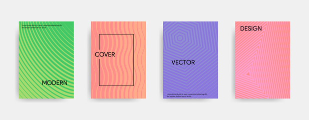 Modern minimalistic abstract cover design. Geometric colorful gradient. Vector illustration.