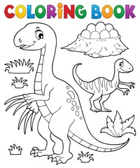 Poster For Kids Coloring book dinosaur subject image 3