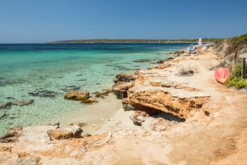 Migjorn beach, Formentera island. Spain