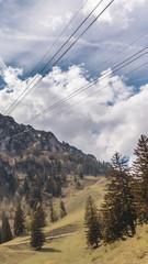 Smartphone HD wallpaper of beautiful alpine view on the Hochfelln - Bergen - Bavaria - Germany
