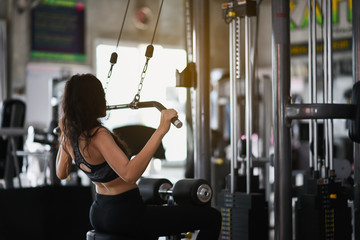sport girl exercise at the gym