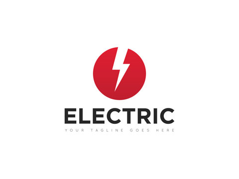 electric logo and icon vector illustration design template