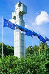 Denkmal für den Unabhängigkeitskrieg auf dem Platz der Freiheit Tallinn, Estland