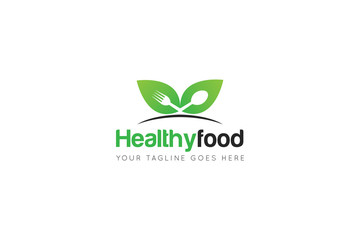 healthy food logo and icon vector design template