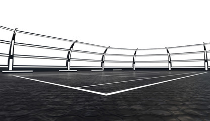 Photo Stands Motor sports 3d tennis court
