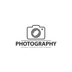 camera photography logo and icon vector design template