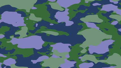 camouflage seamless pattern with blue color dominant. Fashion print