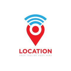 people location pin logo, icon, symbol, vector design template