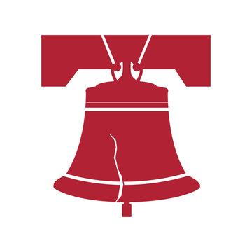 Liberty Bell. Vector Illustration.