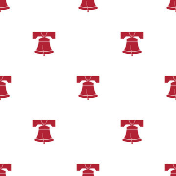 Liberty Bell Seamless Pattern Background. Vector Illustration.