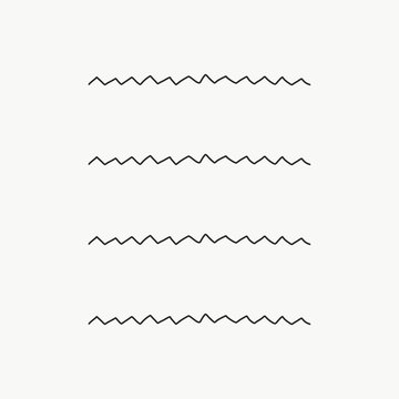 Vector of some banners, borders and dividers for your notes or whatever you want done by hand. Zig zag shape