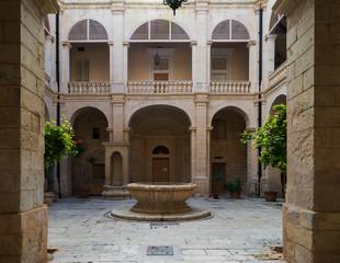 Courtyard in historic city of Mdina, Malta