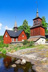 Alte Kirche in Fagervik, Finnland