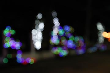 abstract bokeh street light background.