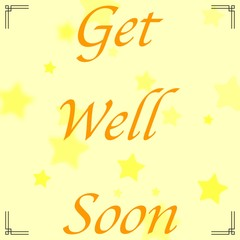 abstract background with message Get Well soon