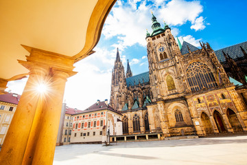 Wall Mural - St. Vitus Cathedral in Prague, travel photo