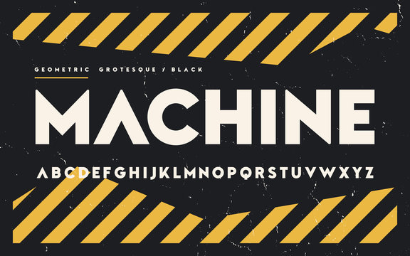 Geometric black weight san serif, alphabet, uppercase letters, f