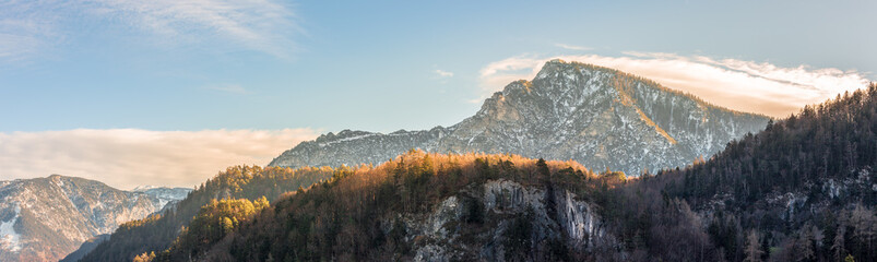 Beautiful landscape panorama in the mountains, fall