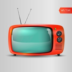 Retro TV icon. Vector illustration