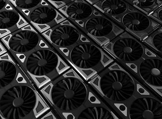 Graphic Card 3d Render Illustration Blockchain GPU