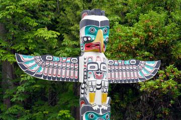 Totempfahl im Stanley Park - Vancouver Kanada