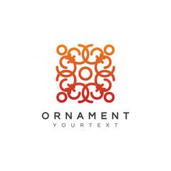 ornament logo design