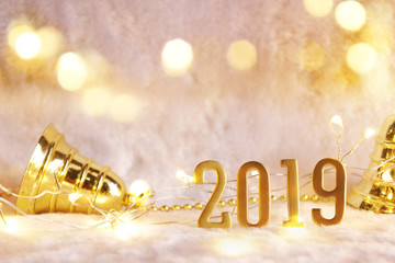 Happy new year 2019, new year decoration for background