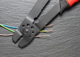 Electrical cables wires and nippers