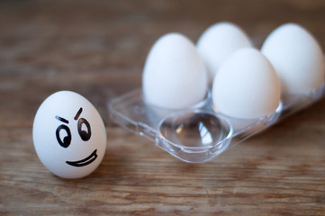 eggs with face