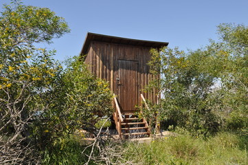 The beautiful wooden house in forest in Cyprus