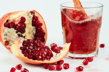 pomegranate juice andpomegranate seeds