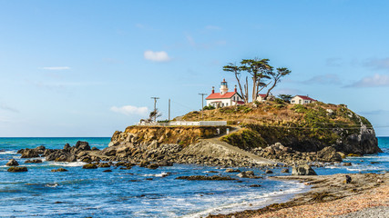 Battery Point Lighthouse in Crescent City Kalifornien USA