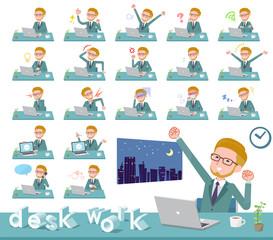 flat type blond hair businessman_desk work
