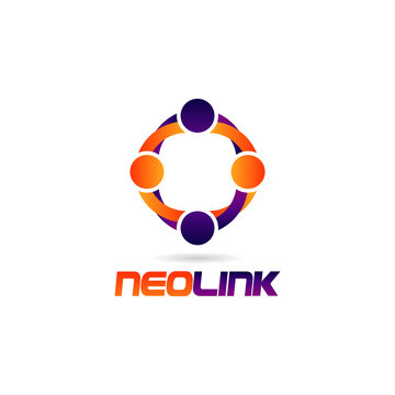 Colorful People Link Logo Sign Symbol Icon