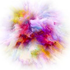 Unfolding of Color Splash Explosion