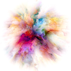 Unfolding of Color Splash Explosion