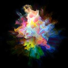 Modern Colorful Paint Splash Explosion