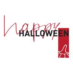 Halloween Poster in Minimalist Modern Style. Vector Illustration.