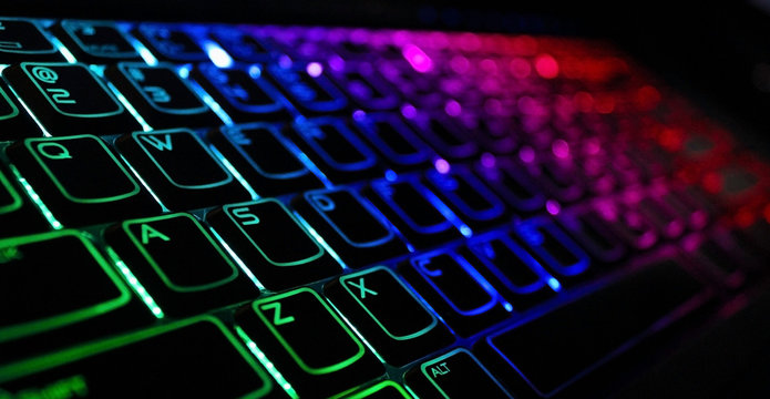 Backlight gaming keyboard with versatile color schemes