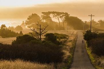 Sonnenuntergang am Point Cabrillo Mendocino Kalifornien USA