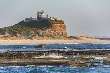 Nobbys Lighthouse Dawn Seascape