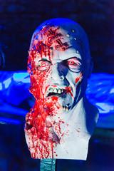 Blutverschmierte Halloween-Maske